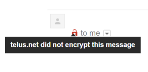 gmail not encrypted did not encrypt this message