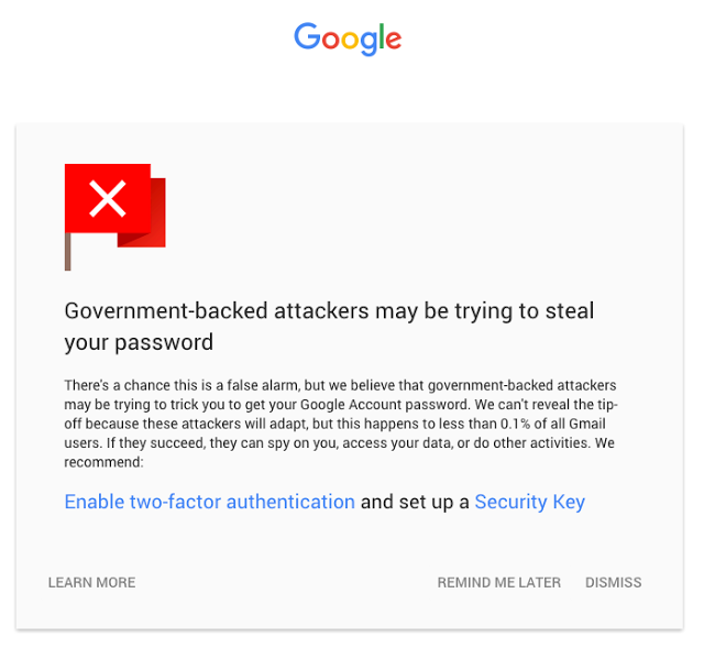 new warning google government state sponsored attackers