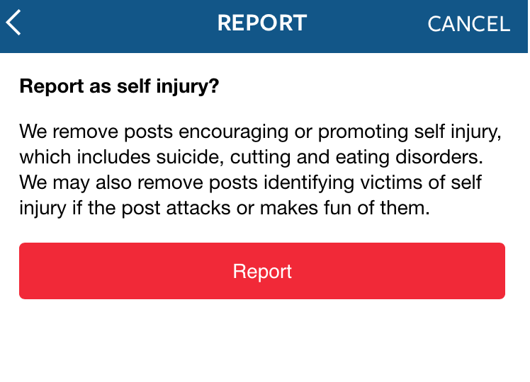 report post instagram self injury socialhax